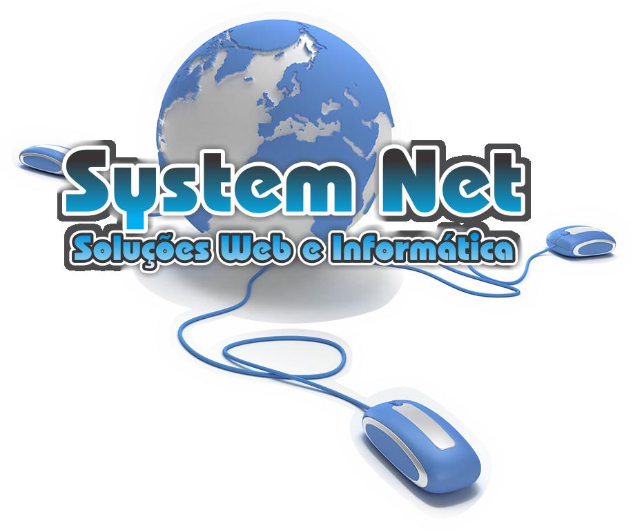 Logo SYSTEM NET - soluções web e informática